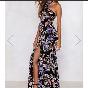 Floral fit and flare dress from Nasty Gal